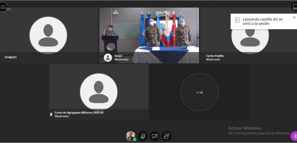 Academia Diplomática y Escuela Superior de Guerra preparan, de manera virtual, a los futuros agregados militares