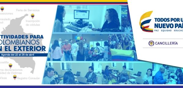 Actividades para colombianos en el exterior la agenda del 22 al 28 de abril de 2017