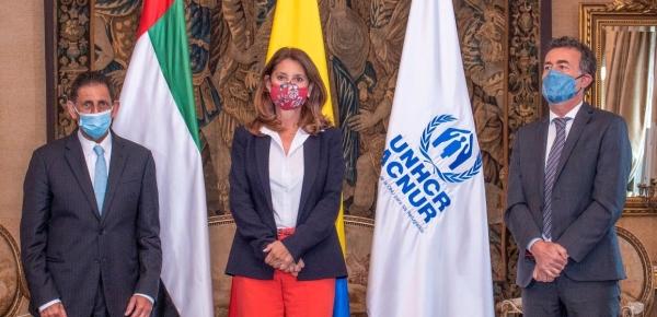Colombia recibe millonaria donación de Emiratos Árabes Unidos para atender a migrantes