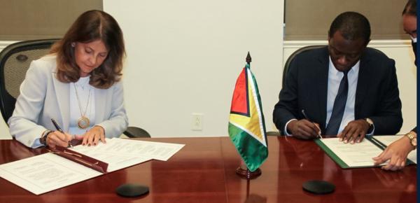 Colombia y Guyana suscriben acuerdo de cooperación técnica