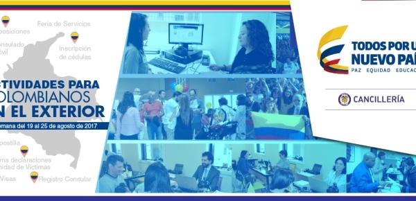 Actividades para colombianos en el exterior del 19 al 25 de agosto de 2017
