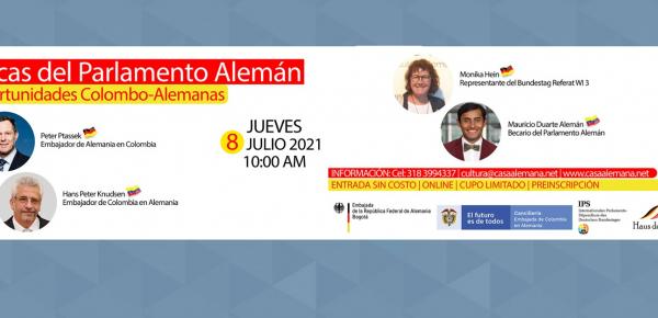 El Embajador de Colombia en Alemania y su homólogo de Alemania en Colombia conversarán sobre el programa de becas International Parlament Stipendium (IPS)