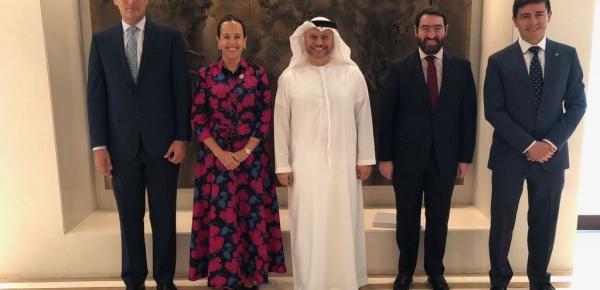 Embajador de Colombia coordinó reunión de jefes de Misión de la Alianza del Pacífico en Emiratos Árabes Unidos con el Secretario de Estado de Relaciones Exteriores del país