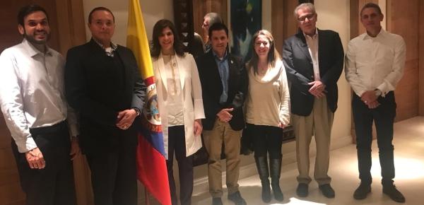 Embajadora de Colombia sostuvo un encuentro con los delegados del Instituto Antártico del Uruguay y de la Comisión Colombiana del Océano