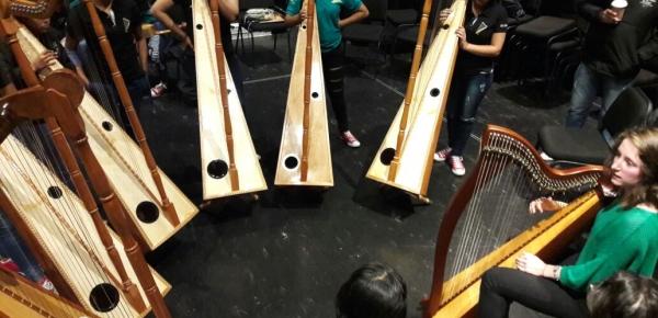 En Irlanda, niñas arpistas de Puerto Carreño y El Retorno adquieren herramientas para la vida