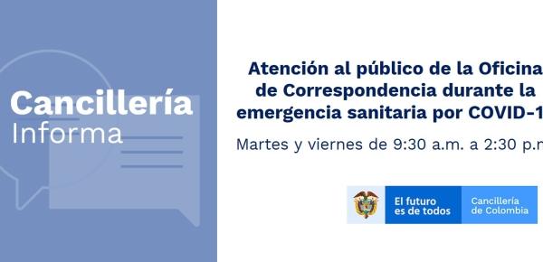 Conozca el horario de atención de la Oficina de Correspondencia de la Cancillería durante la emergencia sanitaria por COVID-19