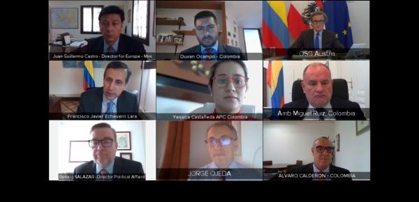 Viceministro Francisco Echeverri y el Secretario General de la Cancillería austriaca, Peter Launsky, presidieron la II reunión de consultas políticas entre Colombia y Austria