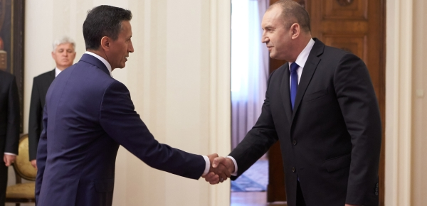 El Embajador Javier Higuera presentó cartas credenciales ante el presidente de Bulgaria, Rumen Radev