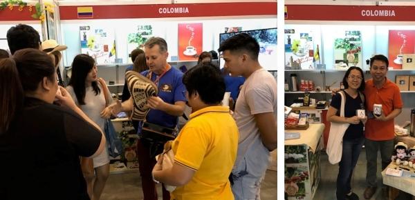 Embajada en Filipinas promocionó el café colombiano durante el Bazar Internacional en Manila