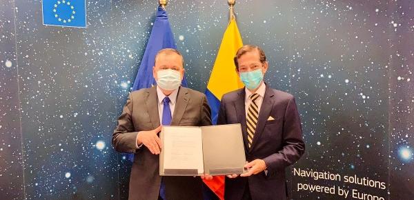 Unión Europea y Colombia firman acuerdo de colaboración relativo a la cooperación en el ámbito de los sistemas mundiales de navegación por satélite
