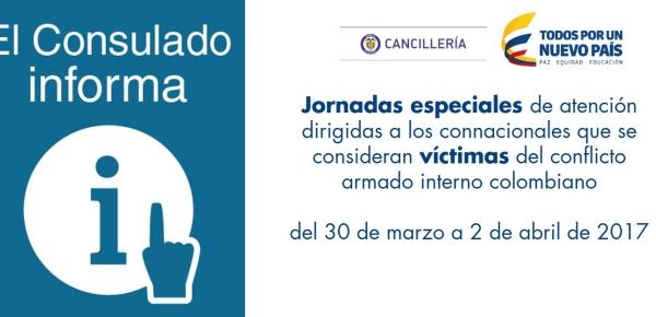 Cancillería de Colombia y la Unidad para la Atención y Reparación integral a las Víctimas realizarán jornadas especiales de atención en Buenos Aires