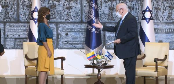 Embajadora Margarita E. Manjarrez Herrera presentó Cartas Credenciales al Presidente del Estado de Israel, Reuven Rivlin
