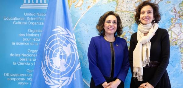 Embajadora de Colombia en Francia, Viviane Morales Hoyos, presentó credenciales ante la Directora General de Unesco