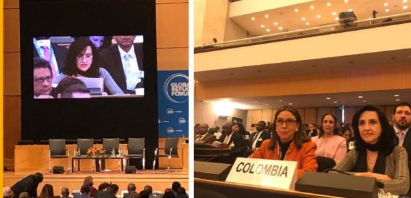 Intervención de la Canciller Claudia Blum en el Foro Mundial sobre los Refugiados en Ginebra
