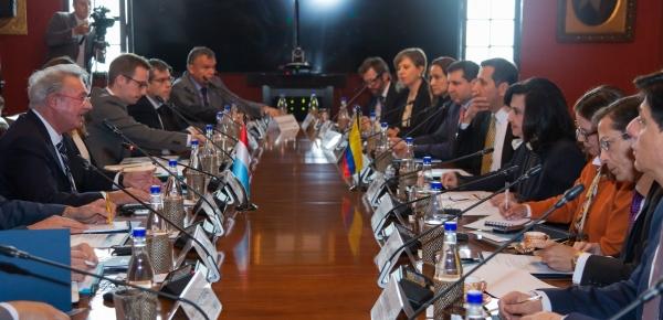 Canciller Claudia Blum y su homólogo de Luxemburgo, Jean Asselborn, dialogaron sobre asuntos económicos, multilaterales y regionales
