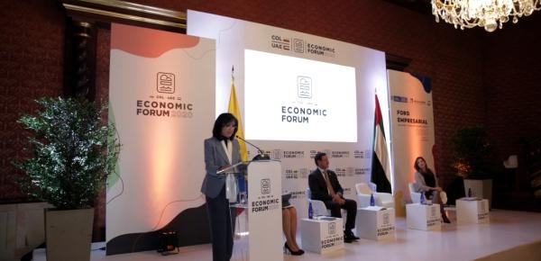 Canciller Claudia Blum instaló el Foro Económico Colombia - Emiratos Árabes Unidos