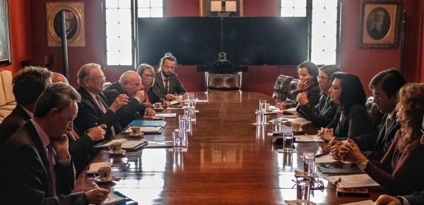 Canciller Claudia Blum agradeció al Representante Especial Conjunto de ACNUR y OIM, Eduardo Stein, el apoyo para afrontar la crisis migratoria venezolana