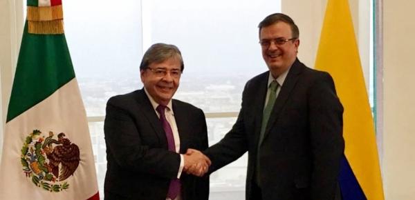 El Canciller Carlos Holmes Trujillo se reunió con su homólogo mexicano, Marcelo Ebrard Casaubón