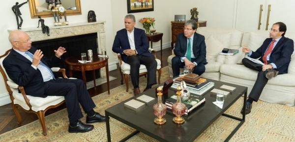 Canciller Trujillo acompañó al Presidente Iván Duque en el encuentro con el fundador del World Economic Forum