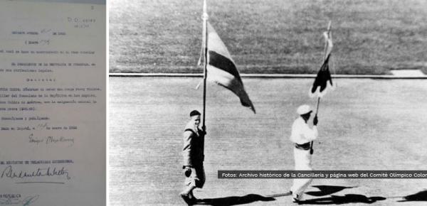 En los archivos históricos de Cancillería: el primer colombiano en unos juegos Olímpicos y Cónsul de Colombia en Los Ángeles en 1933