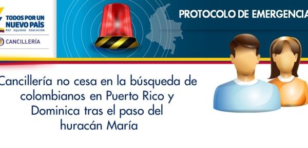 Cancillería no cesa en la búsqueda de colombianos tras el paso del huracán María