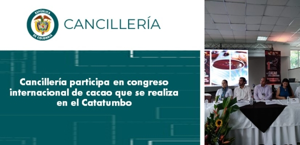 Cancillería participa en congreso internacional de cacao