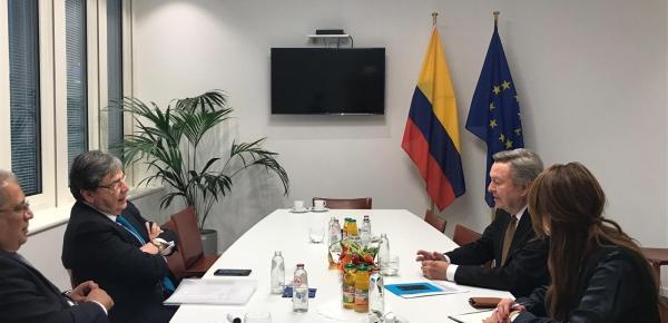Canciller Trujillo se reunió con el Presidente de la Delegación parlamentaria para las relaciones con los países de la Comunidad Andina