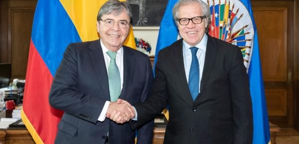 """Colombia es """"un aliado fundamental en los procesos de fortalecimiento de la democracia del continente"""": Luis Almagro, Secretario General de la OEA"""