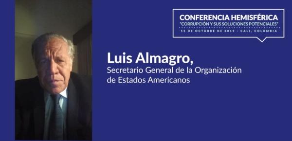 Solo a través del fortalecimiento de la cooperación internacional podemos hacer frente a la corrupción: Secretario General de la OEA