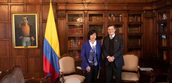 Nuevo Representante de la FAO en Colombia presentó cartas credenciales a la Viceministra de Relaciones Exteriores