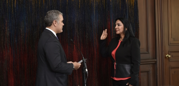 """""""Me llena de motivación que usted vaya a representar a nuestro país a la República Dominicana"""": Presidente Iván Duque a la nueva Embajadora"""