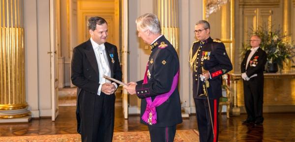 El Embajador de Colombia en Bélgica, Sergio Jaramillo, presentó cartas credenciales ante el Rey Felipe I