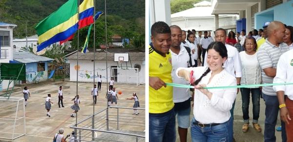 Cancillería inauguró placa polideportiva en Capurganá, Chocó