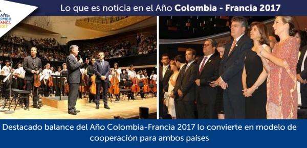 Destacado balance del Año Colombia-Francia 2017 lo convierte en modelo de cooperación para ambos países