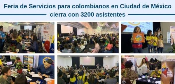 Feria de Servicios para colombianos en Ciudad de México cierra con 3200 asistentes