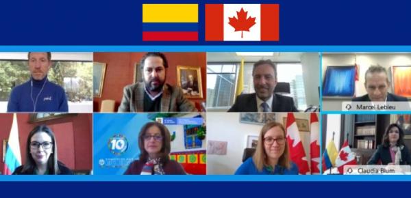 Colombia y Canadá reafirmaron la importancia de la cooperación