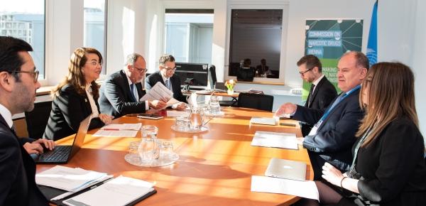 Representante permanente de Colombia en Viena ante la ONU dialogó con la directora ejecutiva de la Unodc