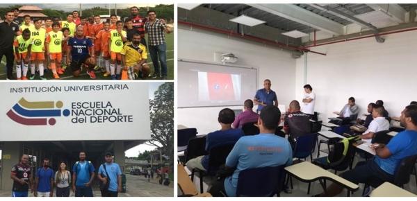 Colombia comparte con Tuvalu su experiencia en el futbol