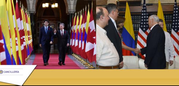 Colombia consolidó la relación con Estados Unidos y Canadá en 2017