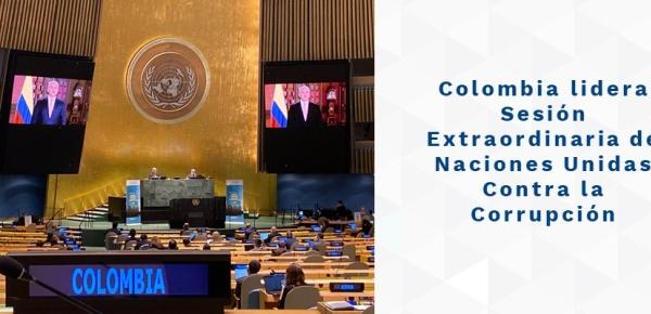 Colombia lidera Sesión Extraordinaria de Naciones Unidas