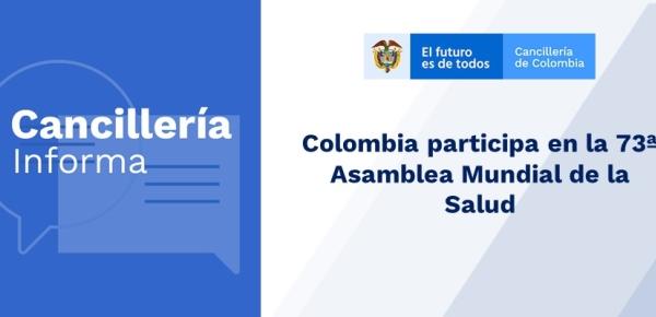 Colombia participa en la 73ª Asamblea Mundial de la Salud en 2020