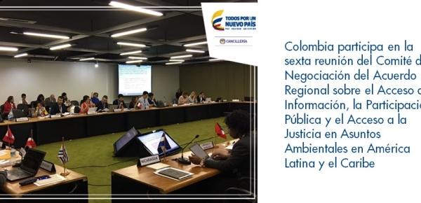 Colombia participa en la sexta reunión del Comité de Negociación del Acuerdo Regional sobre el Acceso a la Información, la Participación Pública y el Acceso a la Justicia en Asuntos Ambientales en América Latina y el Caribe