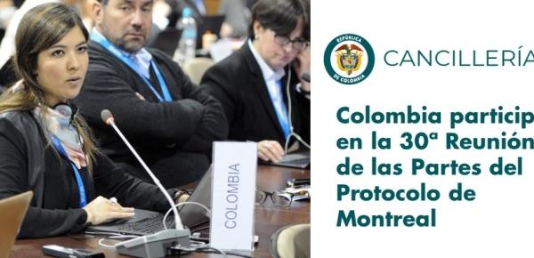 Colombia participó en la Reunión de las Partes de Protocolo de Montreal