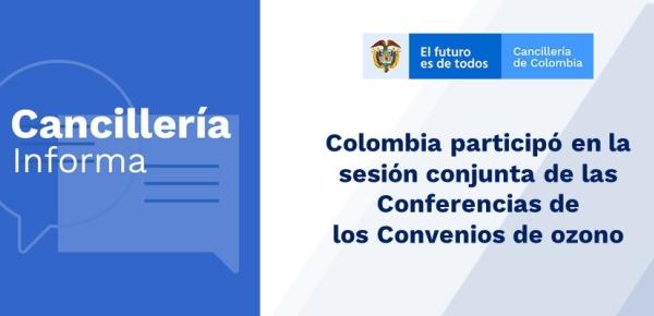 Colombia participó en las Conferencias de  los Convenios de ozono