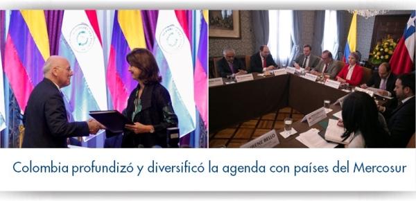 Colombia profundizó y diversificó la agenda con países del Mercosur en 2017