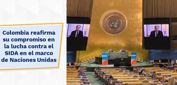 Colombia reafirma su compromiso en la lucha contra el SIDA