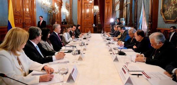 Colombia y México activarán gabinete binacional para reafirmar la relación de hermandad entre los dos países, anunció el Iván Presidente Duque