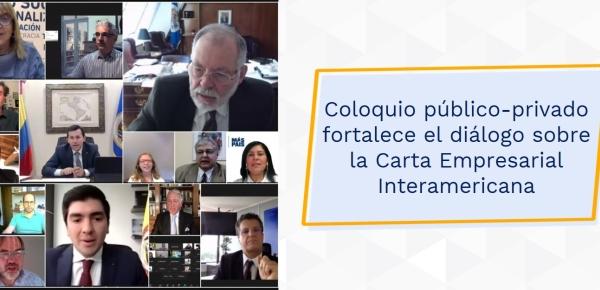 Coloquio público-privado fortalece el diálogo sobre la Carta Empresarial Interamericana