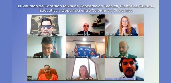 Colombia y Costa Rica suscribieron nuevo Programa de Cooperación Bilateral 2021-2023 conformado por ocho proyectos en diferentes áreas