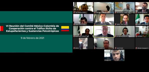 Colombia y México celebraron la VI Reunión de la Comisión Mixta de Drogas